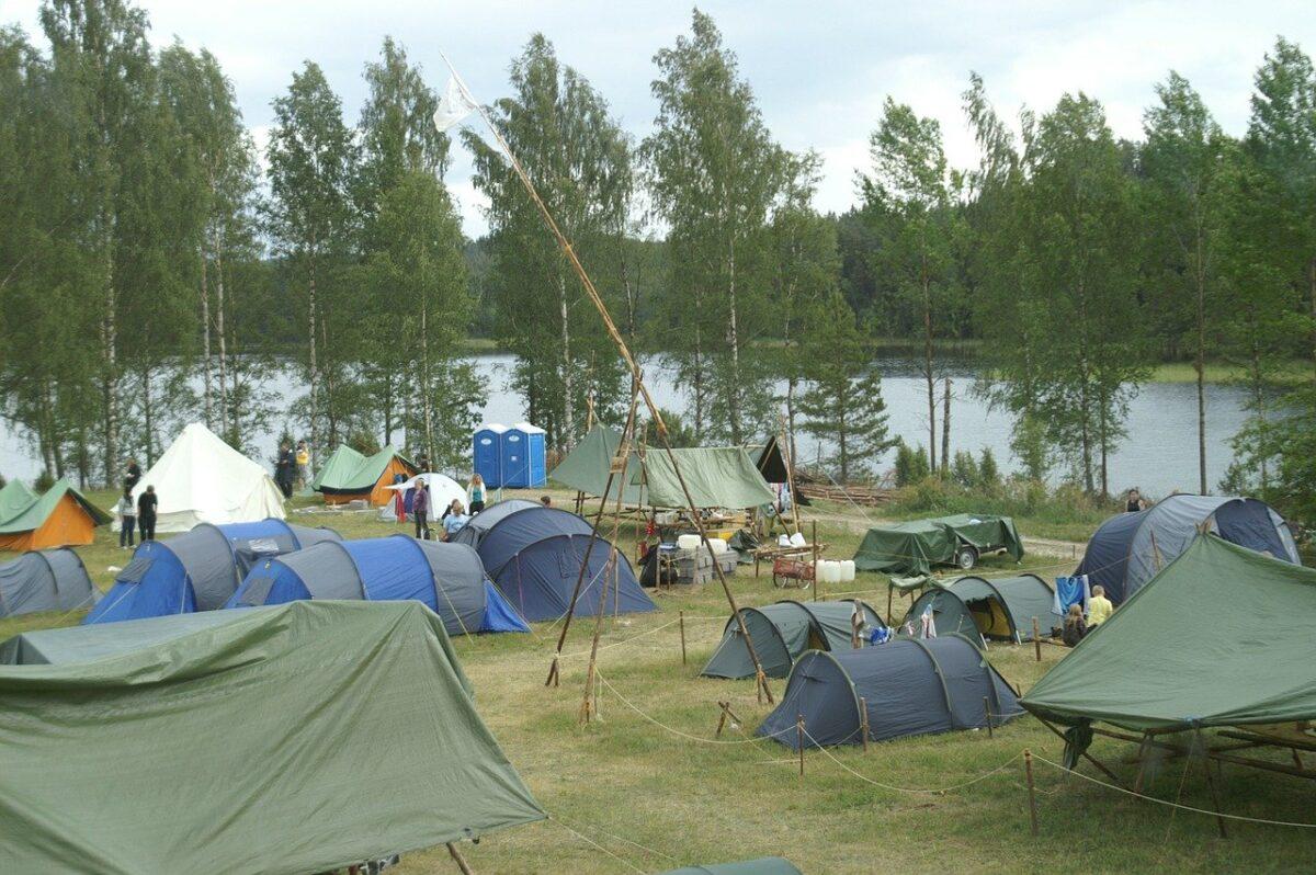 En camping är en bra utgångsplats om du vill vandra i Sverige.