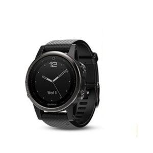 Svart fēnix 5S Sapphire med svart armband