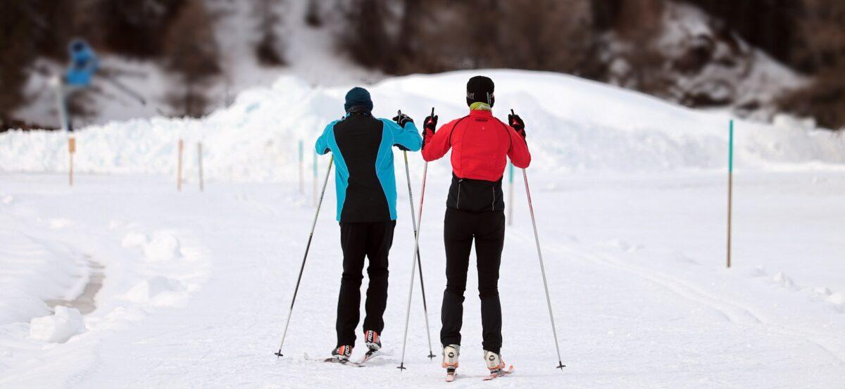 Skidåkare på längdskidor