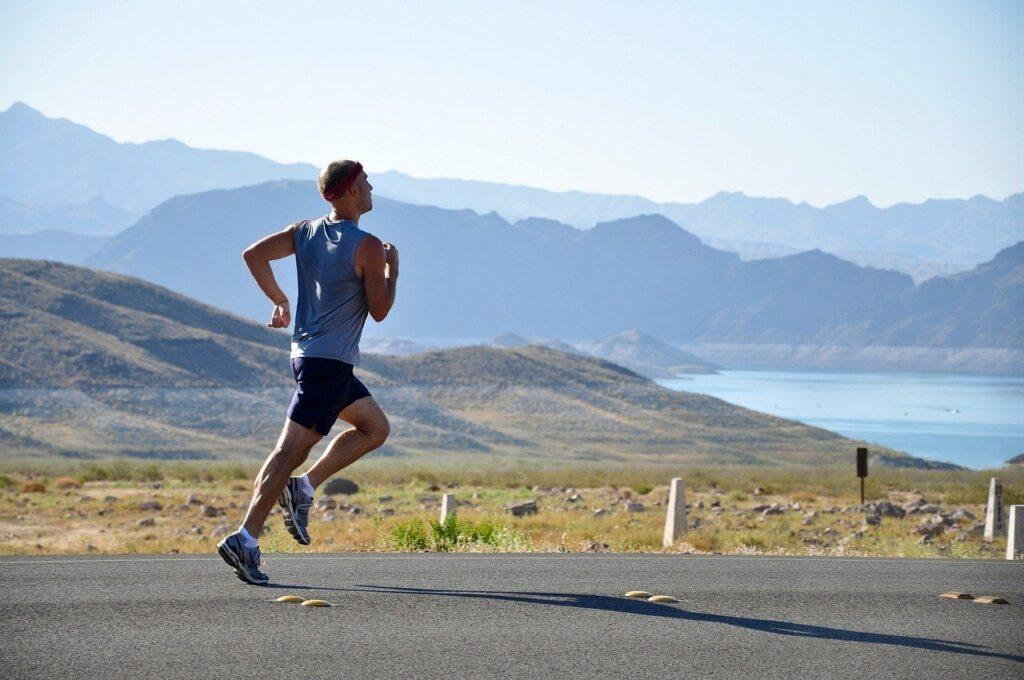 Löpning manlig löpare