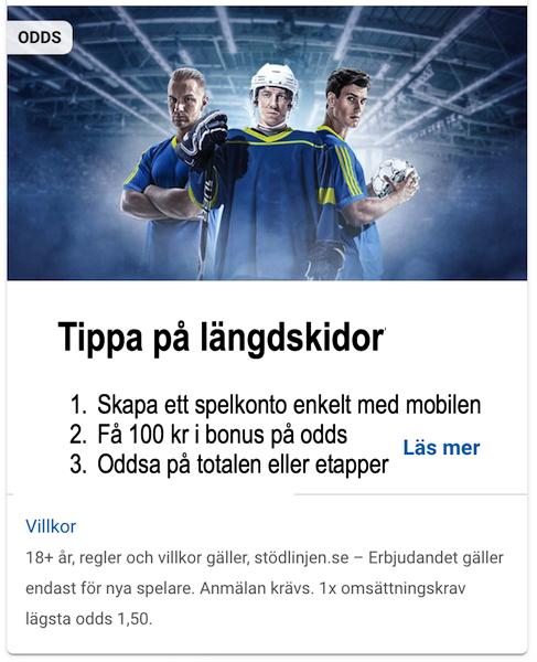 NordicBet Odds 100 kr
