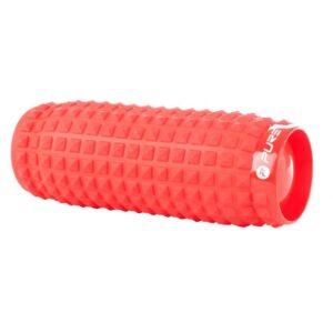 vidaXL Uppblåsbar massagerulle röd