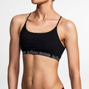 Björn Borg Solid Light Support Sports Top Black Beauty, 34